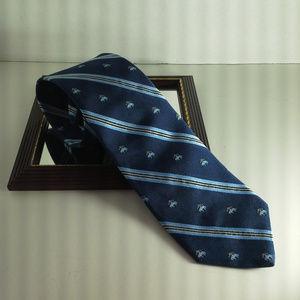 Brooks Brothers mens tie 3.25x58 Navy Blue Fleece